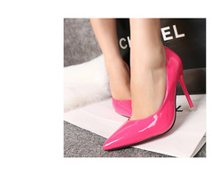 pp129 elegant sharp headed dscount pump,size 34-39,rosary red - $48.80