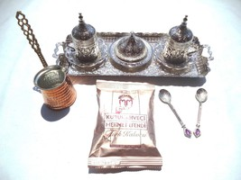 Handmade Turkish Coffee Espresso Set with Coffe... - $60.76