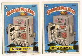 1987 Garbage Pail Kids Cards Series 8 306a Midge Fridge / 306b Leftover ... - $5.00