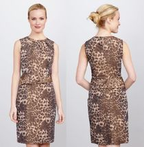 AK ANNE KLEIN Leopard Taffeta Dress  Sz 2 NWT $118 - $80.74