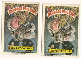 1987 Garbage Pail Kids Cards Series 8 318a Haley's Vomit / 318b Inter St... - $5.00