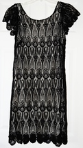 ECI Black Crochet Stretch Dress Sz 2 NWT $166 - $59.47