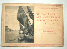 Antique Book 1933 Italy Hotels Guide Part I Adriatic Beach Resorts Photo Maps image 1