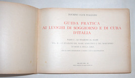 Antique Book 1933 Italy Hotels Guide Part I Adriatic Beach Resorts Photo Maps image 2