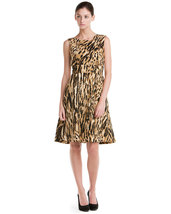 Calvin Klein Camel Printed Dress NWT- Size 2 $138 - $89.81