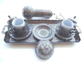 Turkish Ottoman Authentique Coffee Espresso Set&Adjusable Grinder Zamak ... - £47.77 GBP