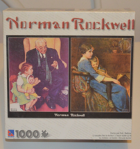Norman Rockwell 1000 Piece Puzzle with Doctor and Doll and Bedtime - $12.95