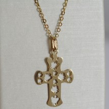 ROBERTO GIANNOTTI 9K YELLOW GOLD NECKLACE WITH ANGEL CROSS PENDANT MADE IN ITALY image 1