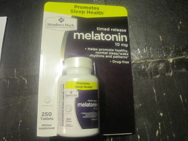 Melatonin 10 mg Timed Release Member's Mark 250... - $17.15