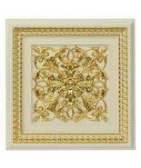 Architectural Ceiling Tile/Wall Panel~ Ivory & Gold,Set of 6 ! 24'' SQ. - $444.51