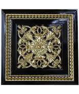 Architectural Ceiling Tile/Wall Panel~ Walnut & Gold,Set of 6 ! 24'' SQ. - $444.51