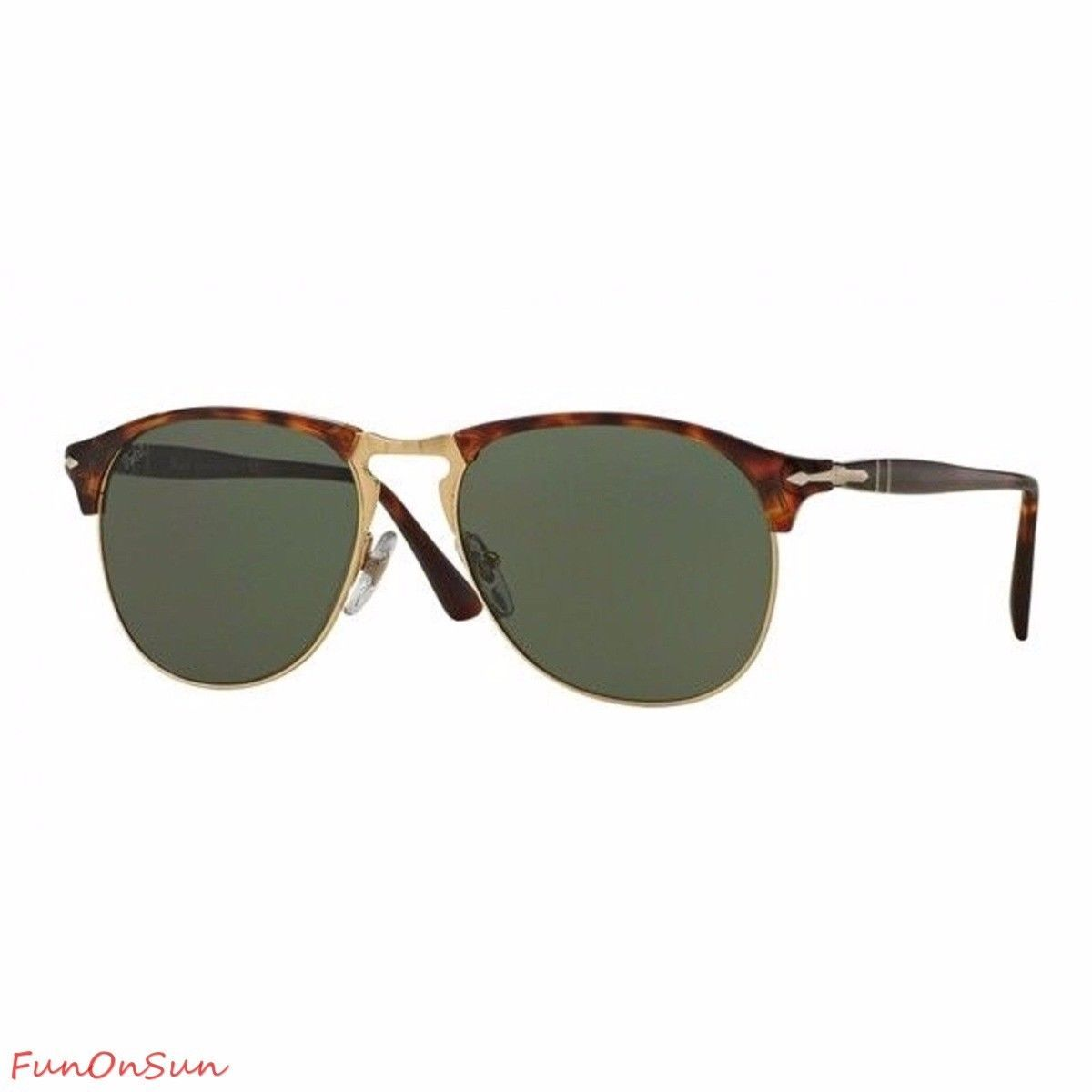 a8fb65b6b11db S l1600. S l1600. Persol Men s Sunglasses PO8649 24 31 Havana Gold Green  Lens Aviator Authentic