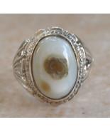 Yemeni Agate Aqeeq silver Ring/ Yemen Yemeni Ak... - $78.21