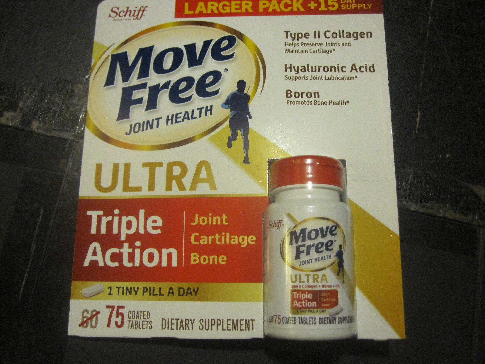 Schiff Move Free Ultra 75 Tablets Supports Joints Cartilage Bone