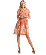 Project Alabama Coral Embroidered Dress NWT- Size 2 $308 - $138.71