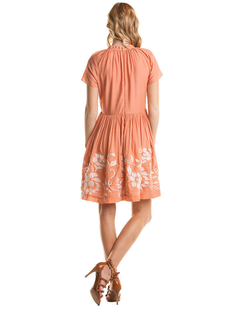 Project Alabama Coral Embroidered Dress NWT- Size 2 $308