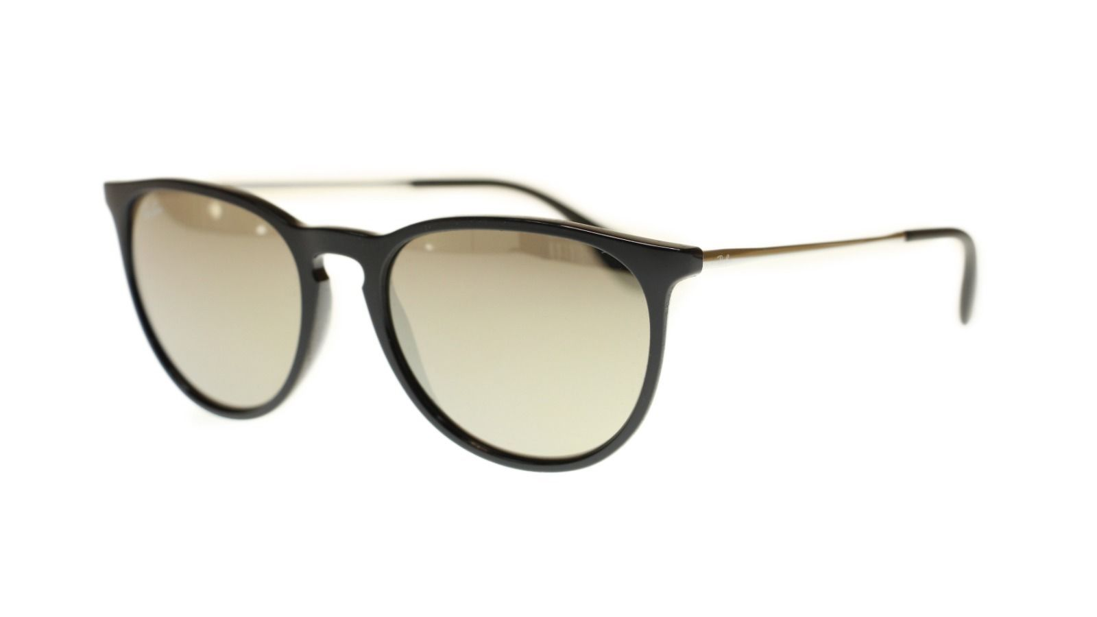 Ray Ban Men's Sunglasses RB4171 601/5A Black With Brown Lens Oval 54mm Authentic