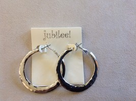 Set Collection of Silver Toned Bracelets Earrings Jubilee! Weave Floral Blessed image 2