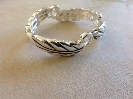 Set Collection of Silver Toned Bracelets Earrings Jubilee! Weave Floral Blessed image 4
