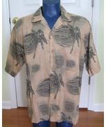HAWAIIAN Aloha SHIRT XL JOE MARLIN tropical pal... - $4.97