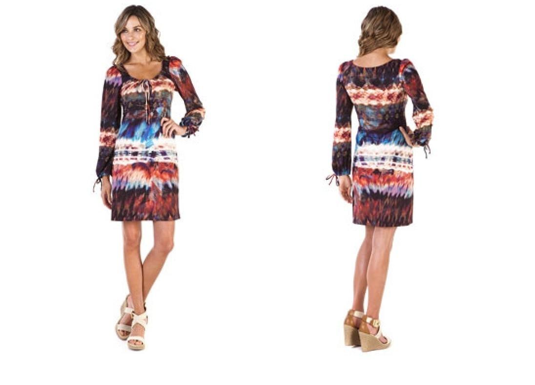 A.B.S. Multi Aztec Print Dress Small NWT $178
