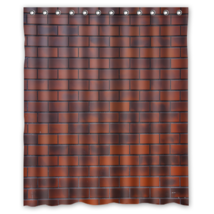 Red Brick #02 Shower Curtain Waterproof Made From Polyester - $31.26+