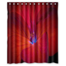 Red Flower #02 Shower Curtain Waterproof Made From Polyester - $31.26+