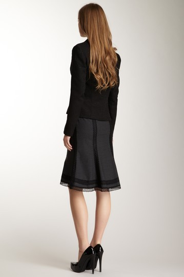 Polli Says Lace Stretch Wool Tulip Skirt Size 2  NWT $225