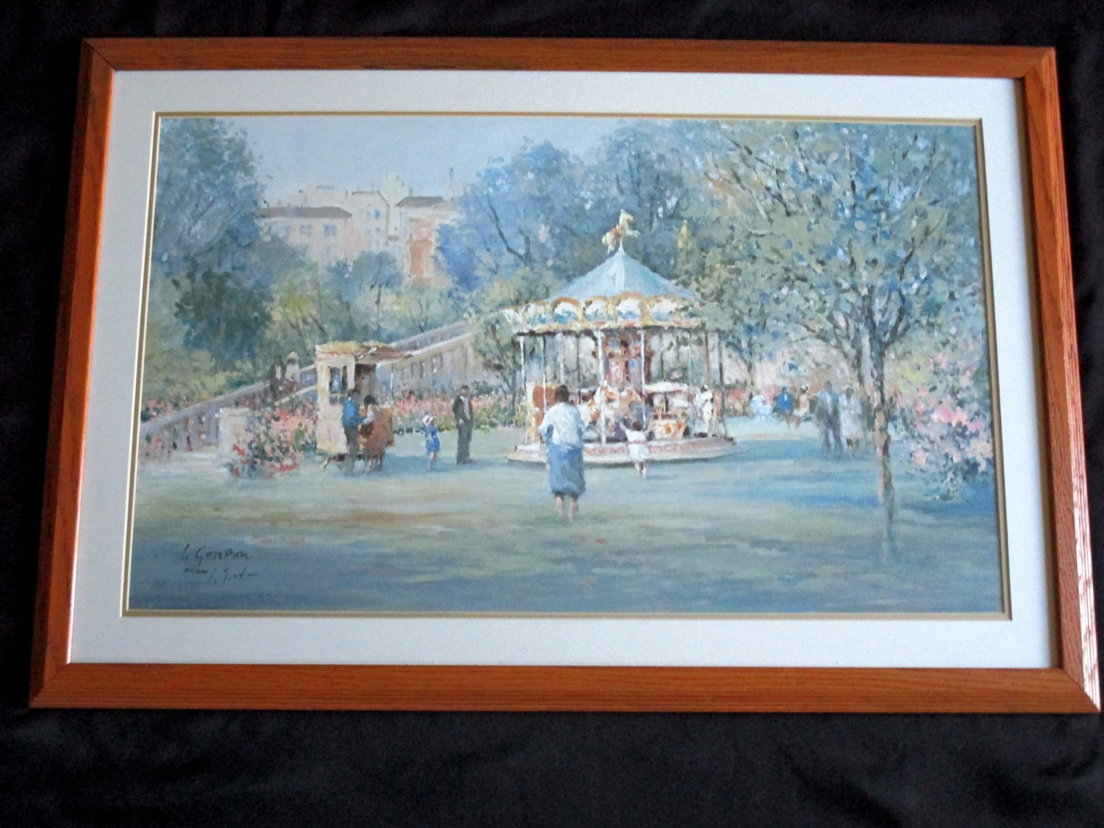 L. Gordon Sunny Afternoon Signed  Numbered 311/1250 Framed Matted Litho Print