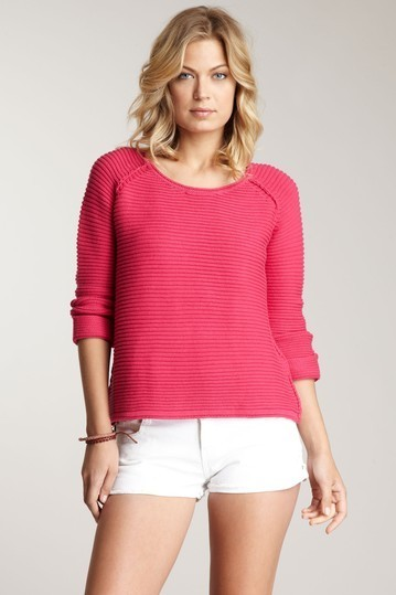525 America Crop Ribbed Sweater Small NWT