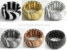 Polycast Strand Stretch Bracelet Wristband 7 Colors - $3.99