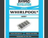 2-Pack Replacement Whirlpool W10311524 Refrigerator Air Filter - Fits Whirlpool W10311524, AIR1 294396672