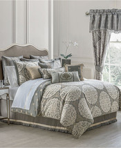 NEW WATERFORD LINENS DARCY QUEEN SIZE 4 PIECE COMFORTER SET PEWTER - £214.11 GBP