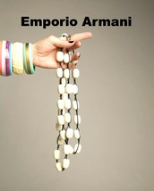 Emporia Armani Necklace 80s Nautical Runway Chunky Vintage Designer Jewelry - $235.00