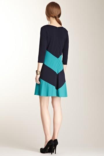 Miss Sixty Olivia Chevron Stripe Dress Size 2 NWT $138