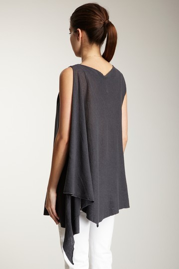 Pure & Simple Asymmetrical Sleeveless Top Size Small  NWT $115