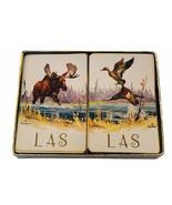 Casino Playing Cards vtg set poker Sweney LAS Moose Mallard duck Hunting... - $16.40