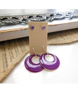 Set Of 2 Lavender Purple Crystal Rhinestone Ena... - $6.92