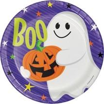 """Happy Haunts Kids 8 Ct 9"""" Dinner Plates Halloween Ghost - $4.39"""