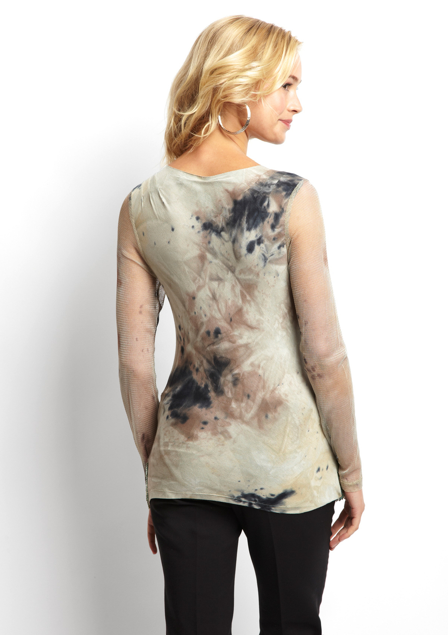 POLECI Sequin Trim Long Sleeve Top Small NWT $275
