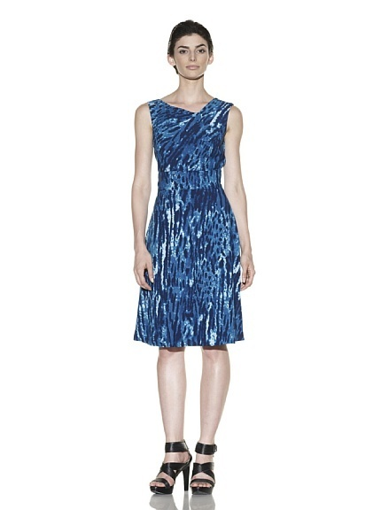 Calvin Klein Blue Printed Dress NWT- Size 2 $138