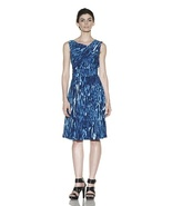 Calvin Klein Blue Printed Dress NWT- Size 2 $138 - $89.81
