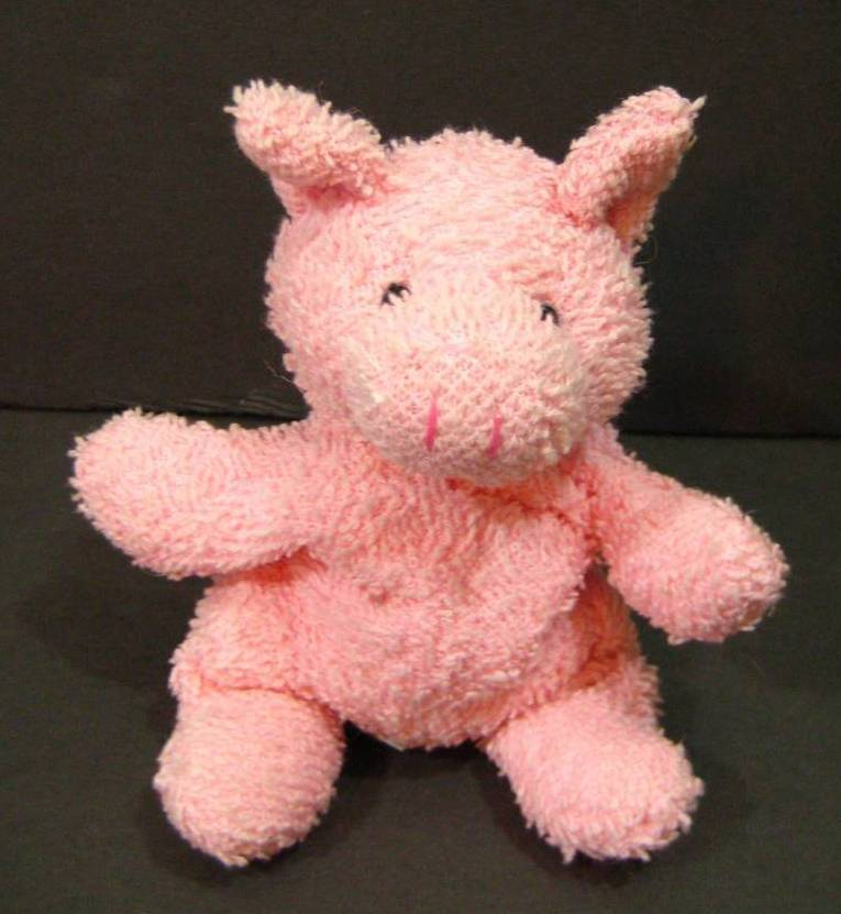 "Primary image for 7"" Pink HAMLET PIG Russ Berrie Bean Bag Toy Plush Stuffed Animal"