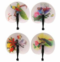 Chinese Paper Folding Hand Fan - One Fan with Random Color and Design image 3