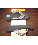 Yellow Box Fiddle Ivory Sandal Size 7 - $24.93