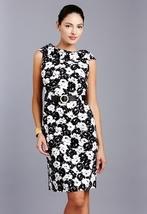 TAHARI ARTHUR S. LEVINE Cowl Neck Belted Print Dress NWT- 2- $149 - $79.00