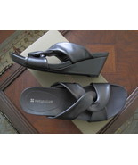 Naturalizer Pewter Wedge Sandals Size 7.5 New with box - $42.34