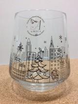 AMICI Handmade Glass Red Wine Tumbler Stemless New York Skyline at Chris... - $29.69