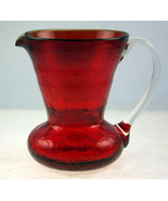 Vintage Pilgrim Glass ruby red crackle mini pit... - $22.00