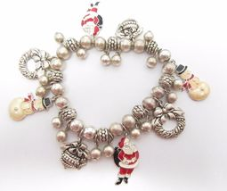 AVON Christmas Charms Stretch BRACELET in Silver-tone - FREE SHIPPING - $23.00